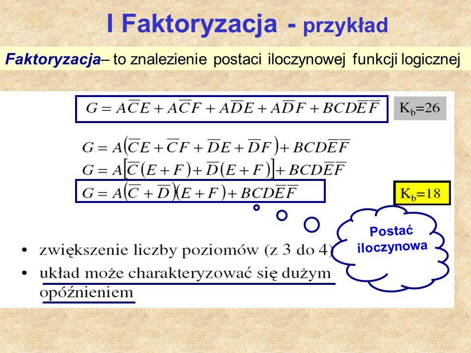 I Faktoryzacja - przykład