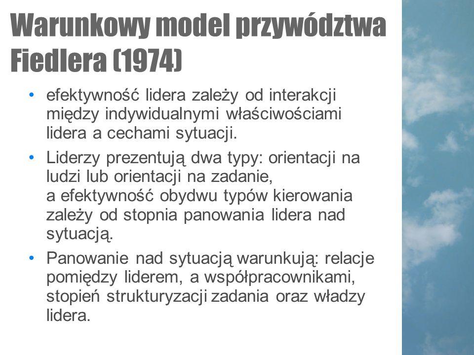 Warunkowy model przywództwa Fiedlera (1974)