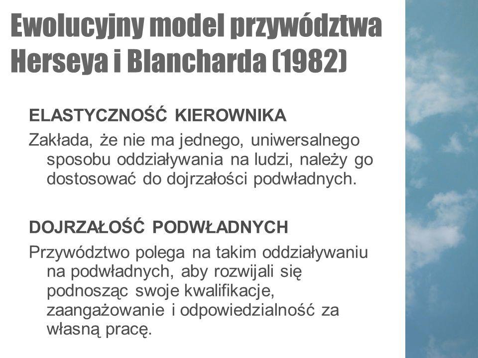Ewolucyjny model przywództwa Herseya i Blancharda (1982)