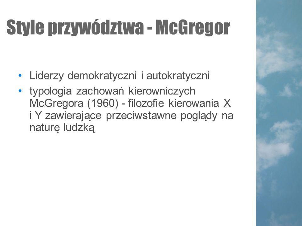 Style przywództwa - McGregor