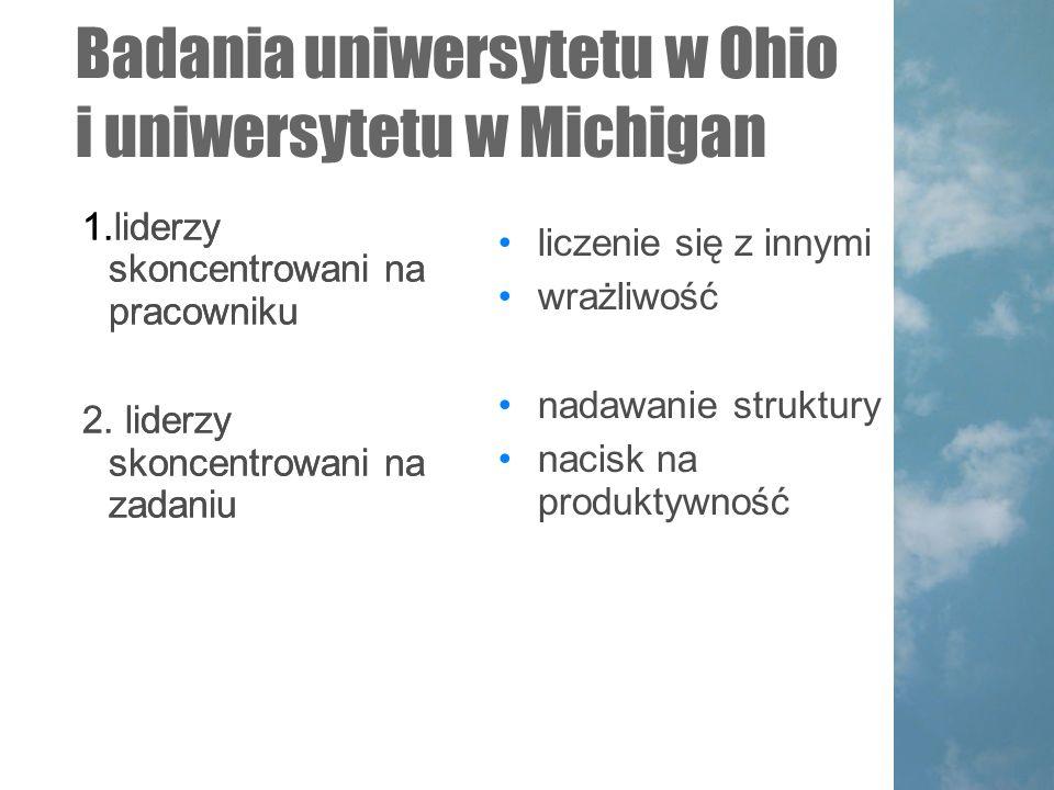 Badania uniwersytetu w Ohio i uniwersytetu w Michigan