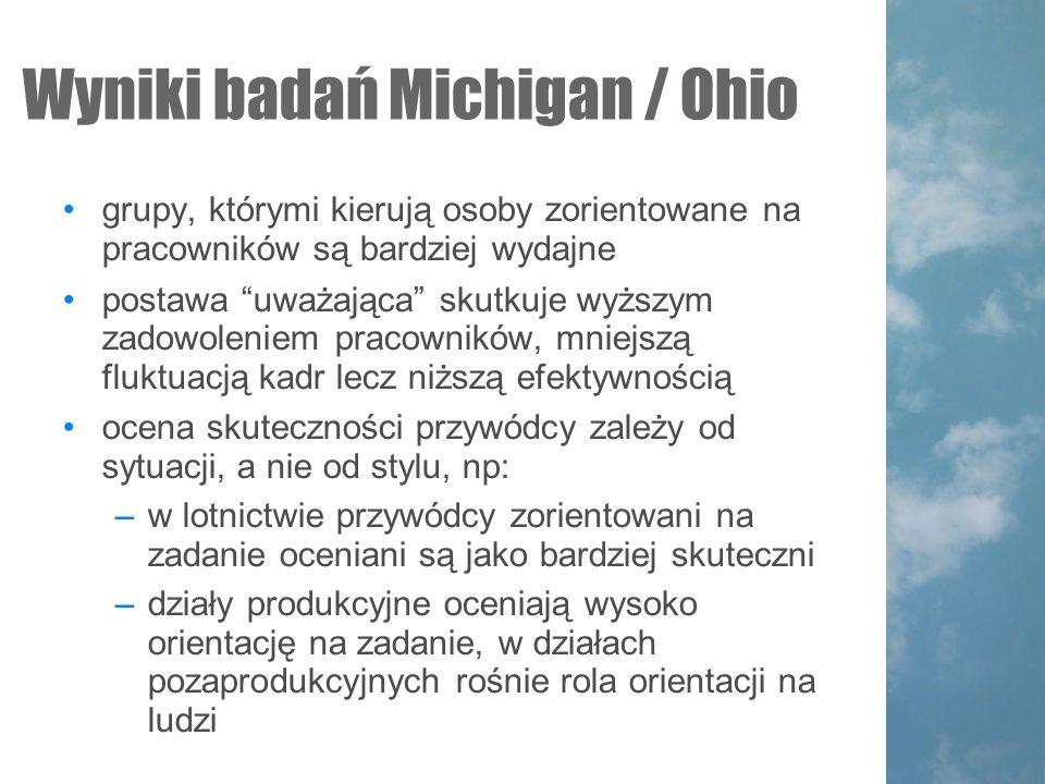 Wyniki badań Michigan / Ohio
