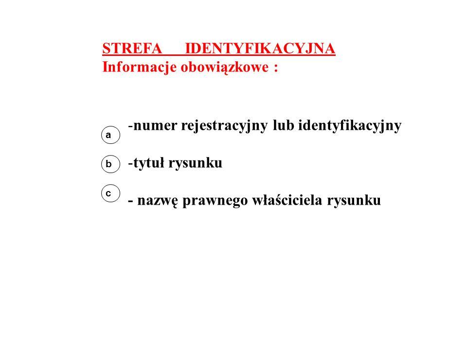STREFA IDENTYFIKACYJNA Informacje obowiązkowe :
