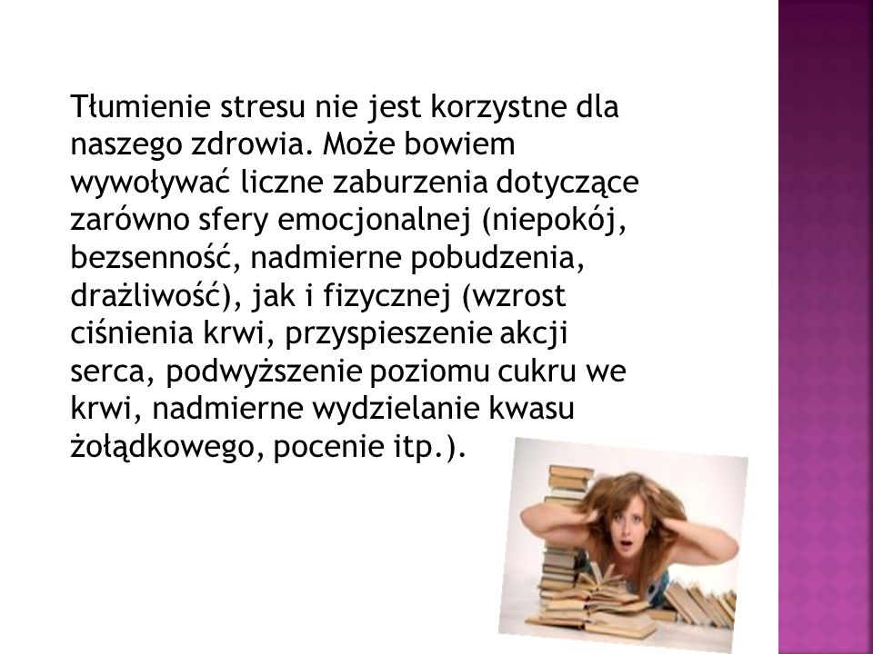Tłumienie stresu nie jest korzystne dla naszego zdrowia