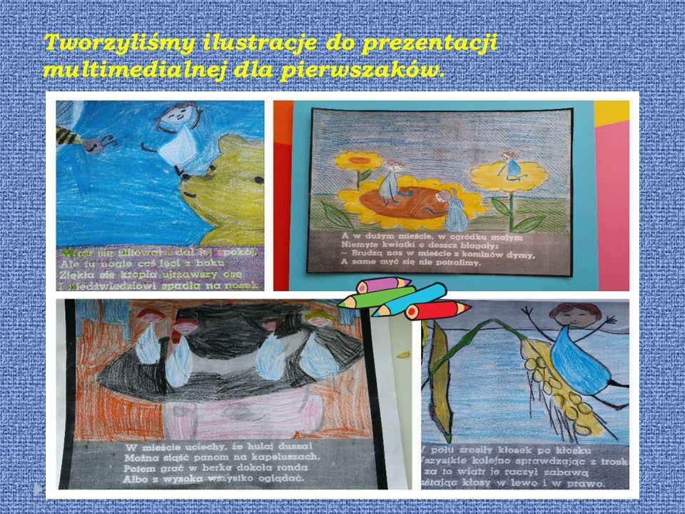 Tworzyliśmy ilustracje do prezentacji multimedialnej dla pierwszaków.
