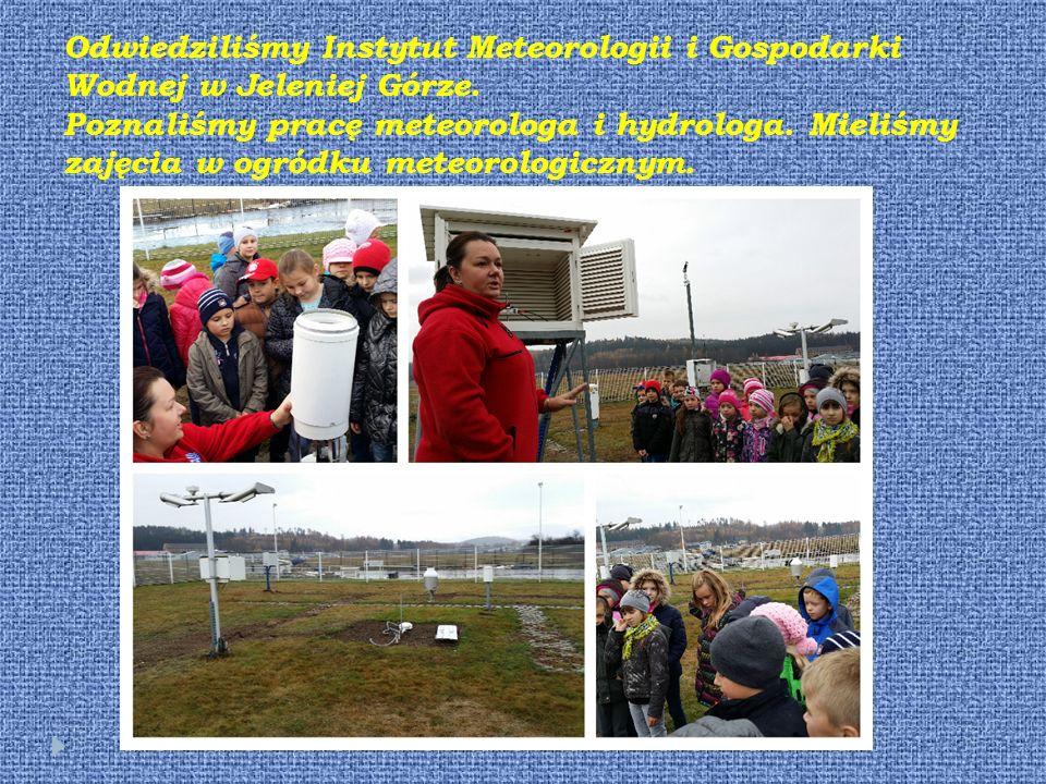 Odwiedziliśmy Instytut Meteorologii i Gospodarki Wodnej w Jeleniej Górze.