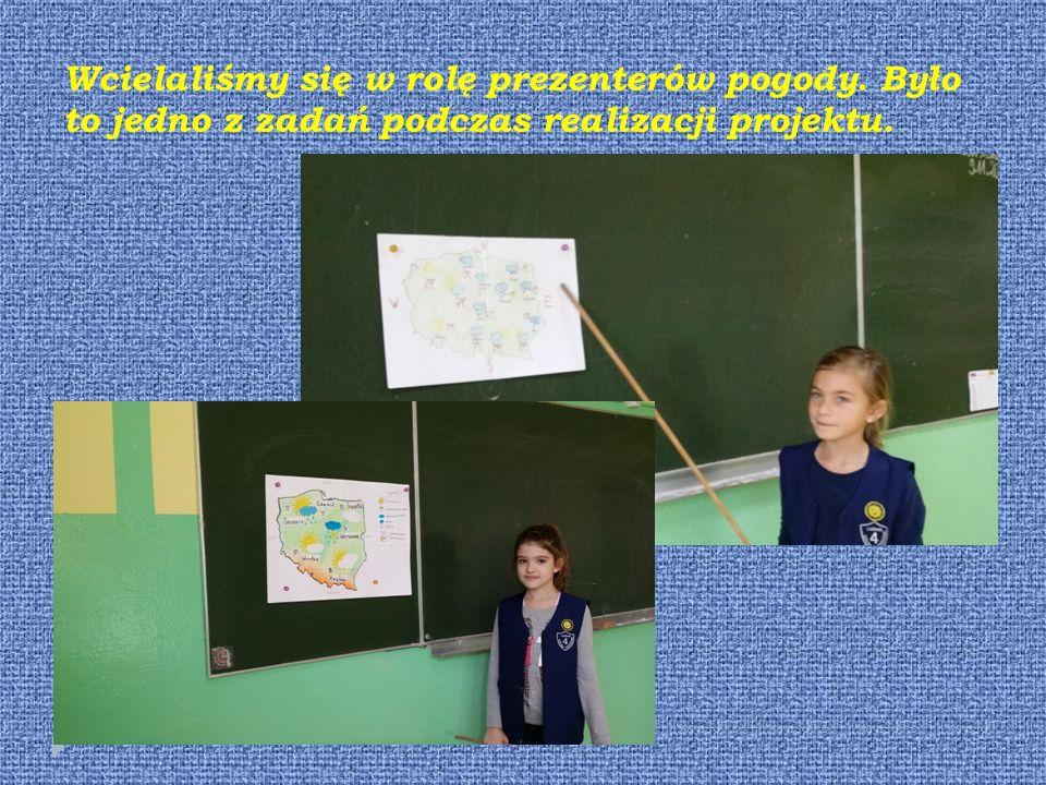 Wcielaliśmy się w rolę prezenterów pogody