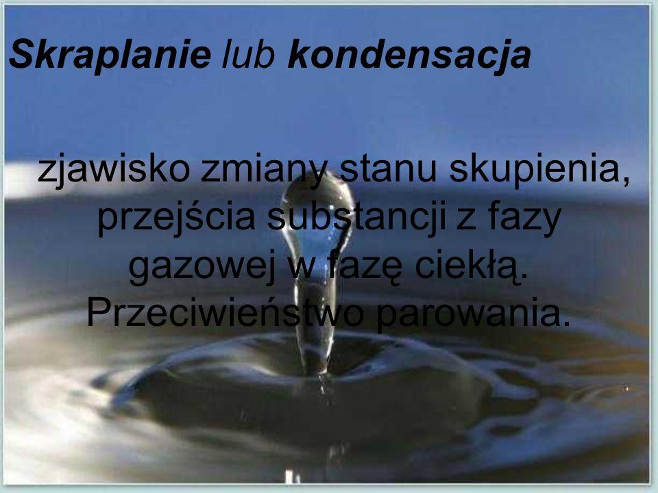Skraplanie lub kondensacja