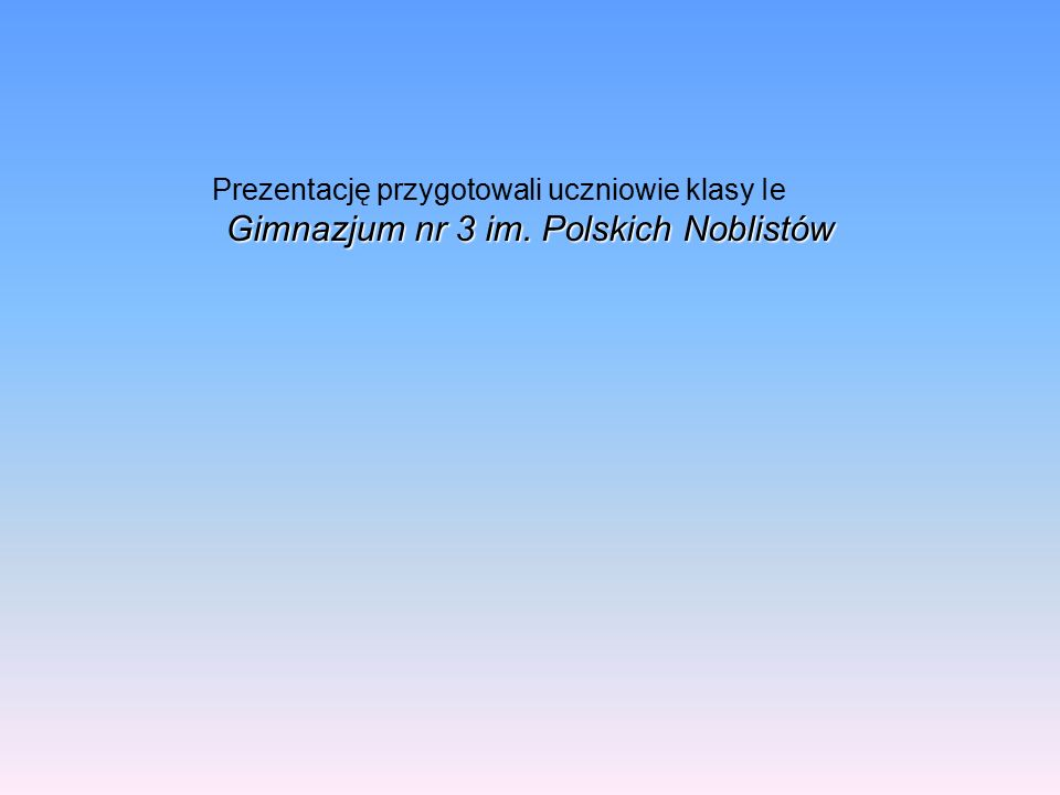 Gimnazjum nr 3 im. Polskich Noblistów