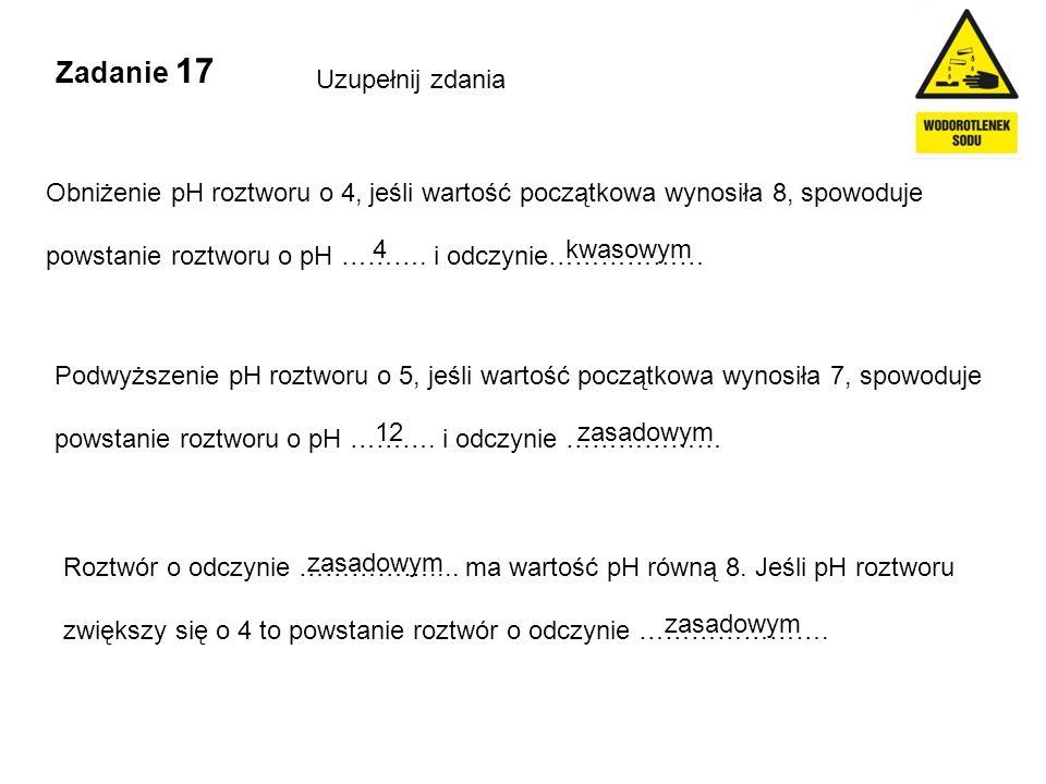 Zadanie 17 Uzupełnij zdania