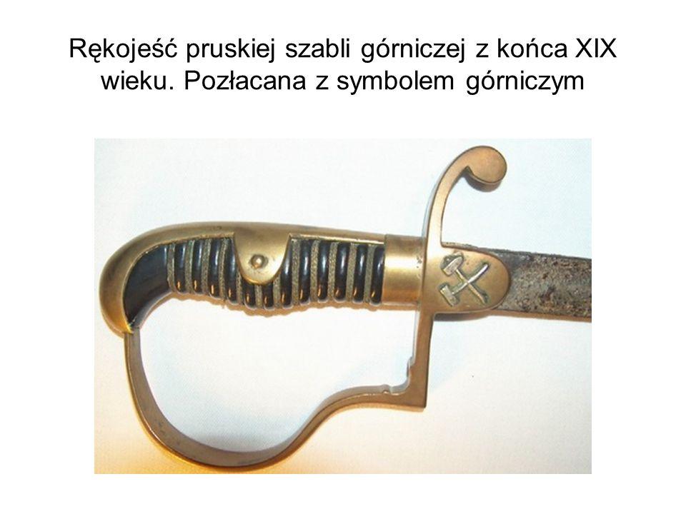 Rękojeść pruskiej szabli górniczej z końca XIX wieku