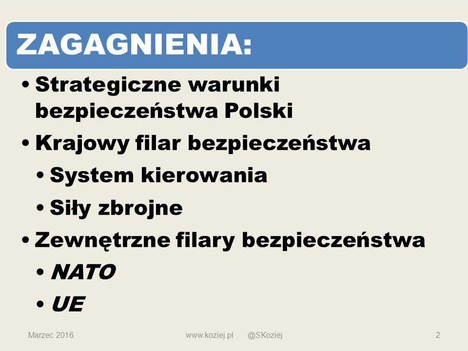 ZAGAGNIENIA: Strategiczne warunki bezpieczeństwa Polski