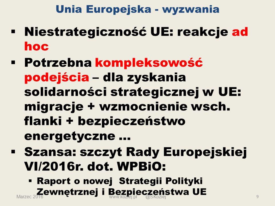 Unia Europejska - wyzwania