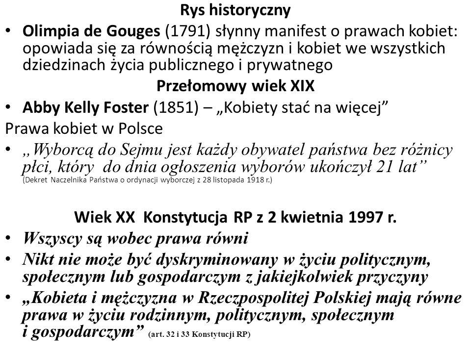 Wiek XX Konstytucja RP z 2 kwietnia 1997 r.