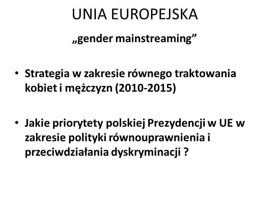 """gender mainstreaming"