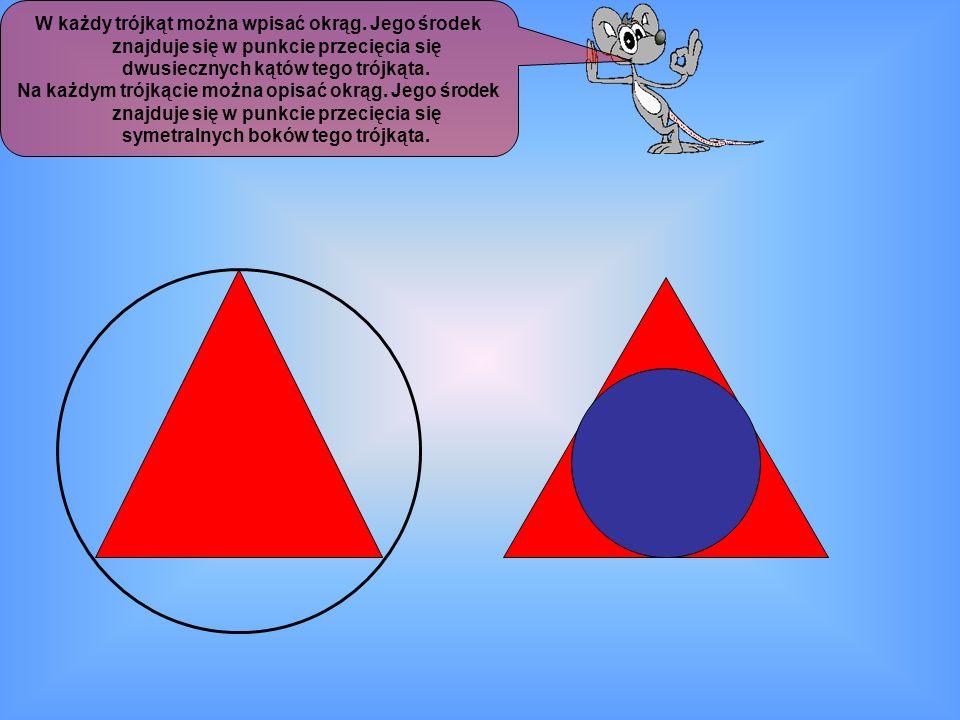 W każdy trójkąt można wpisać okrąg