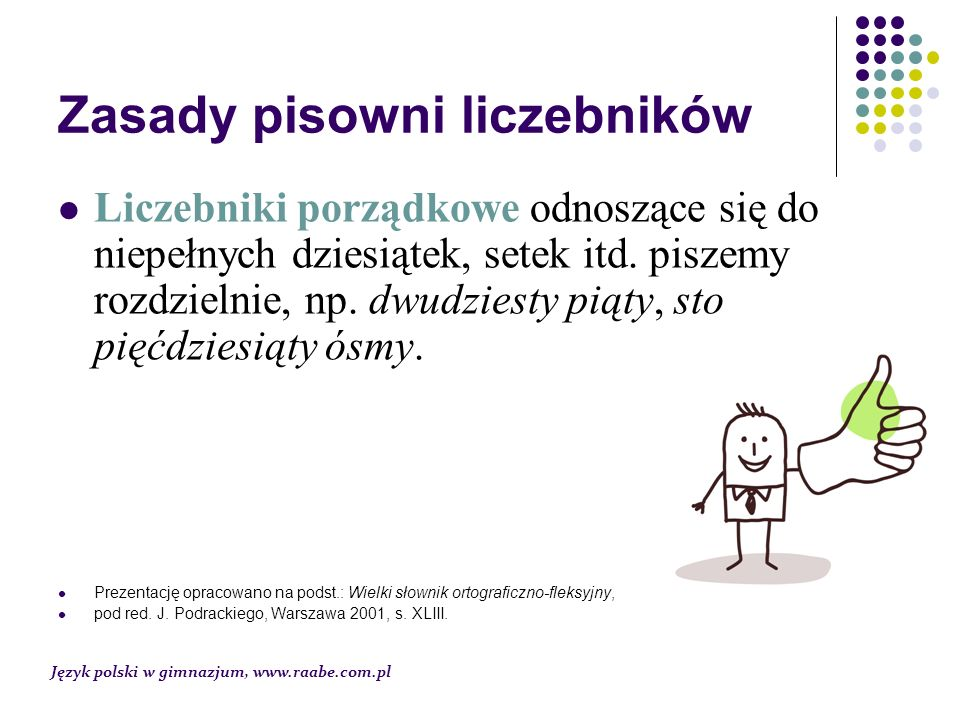 Zasady pisowni liczebników