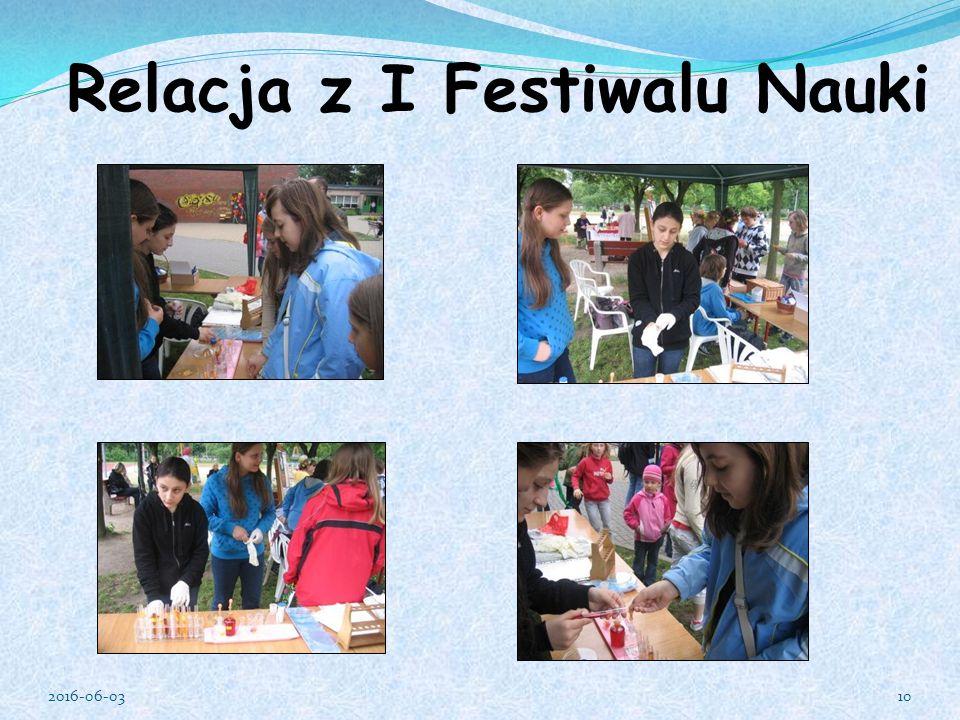 Relacja z I Festiwalu Nauki