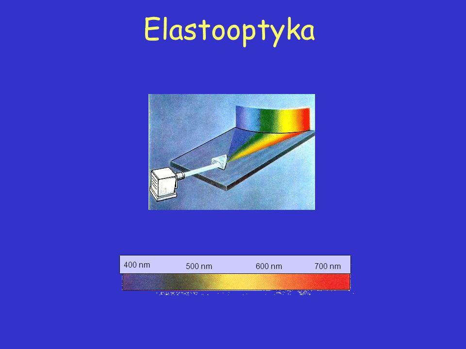 Elastooptyka 400 nm 600 nm 700 nm 500 nm