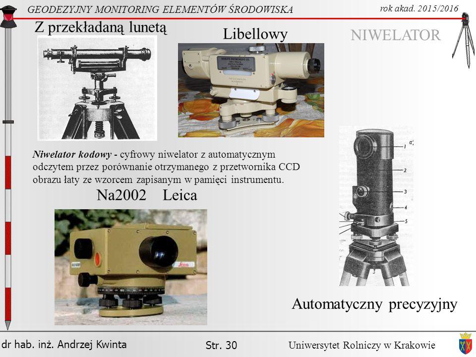 Automatyczny precyzyjny Na2002 Leica