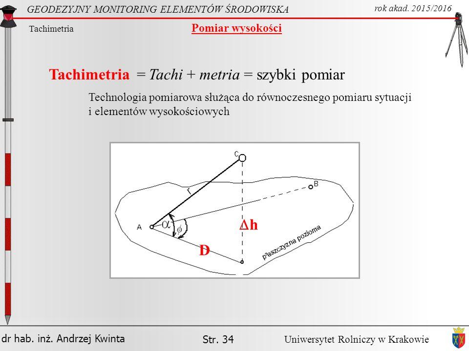 Tachi + metria = szybki pomiar