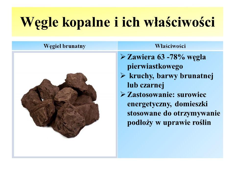 Węgle kopalne i ich właściwości