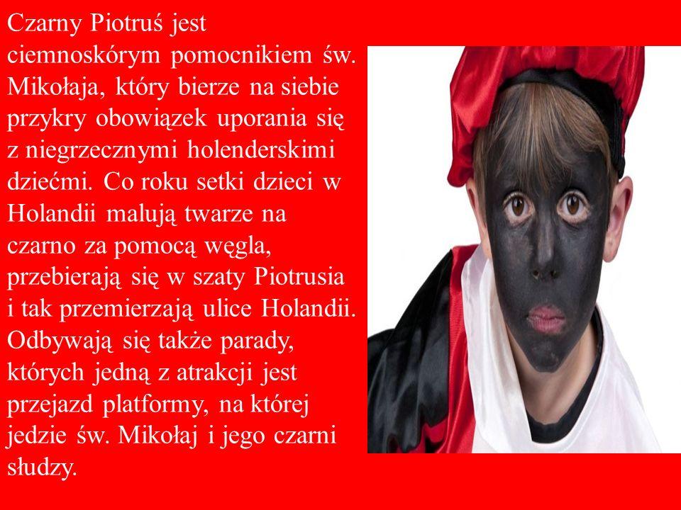 Czarny Piotruś jest ciemnoskórym pomocnikiem św