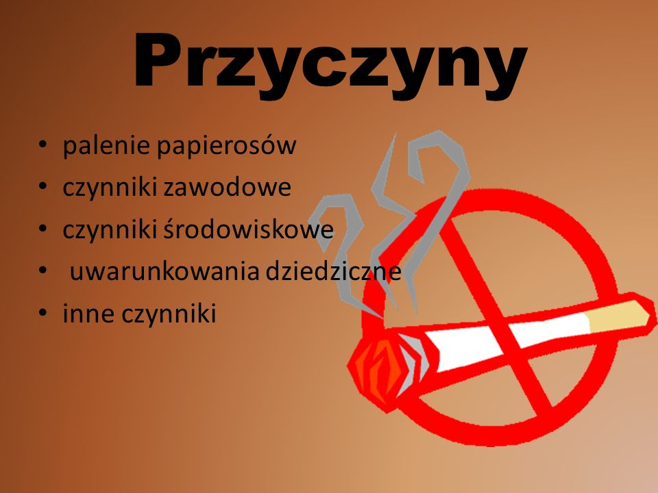 Przyczyny palenie papierosów czynniki zawodowe czynniki środowiskowe