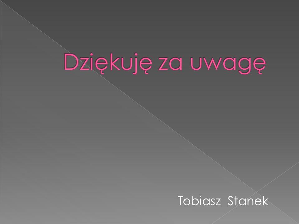Dziękuję za uwagę Tobiasz Stanek