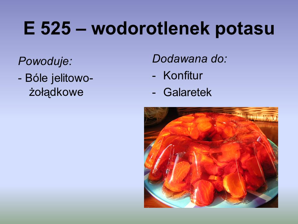 E 525 – wodorotlenek potasu