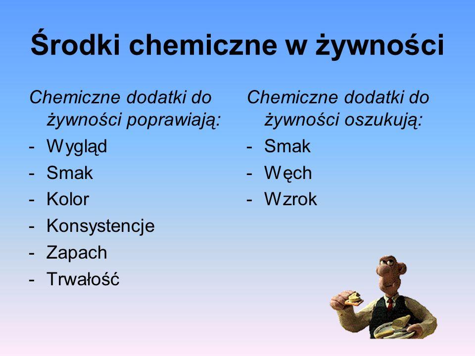 Środki chemiczne w żywności