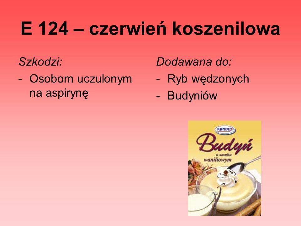 E 124 – czerwień koszenilowa