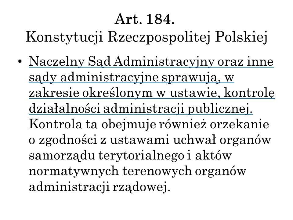 Art. 184. Konstytucji Rzeczpospolitej Polskiej