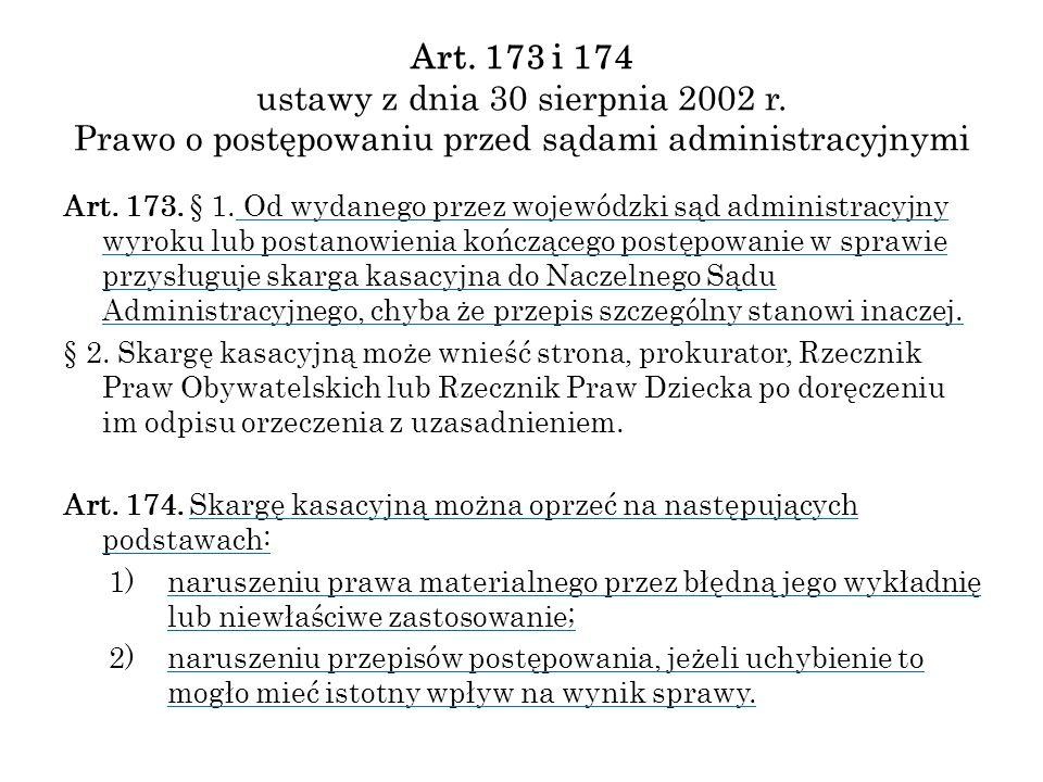 Art. 173 i 174 ustawy z dnia 30 sierpnia 2002 r