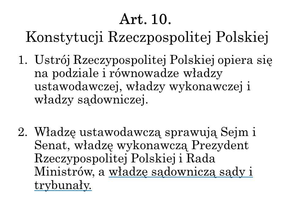 Art. 10. Konstytucji Rzeczpospolitej Polskiej