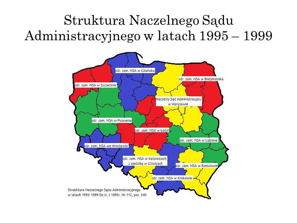 Struktura Naczelnego Sądu Administracyjnego w latach 1995 – 1999