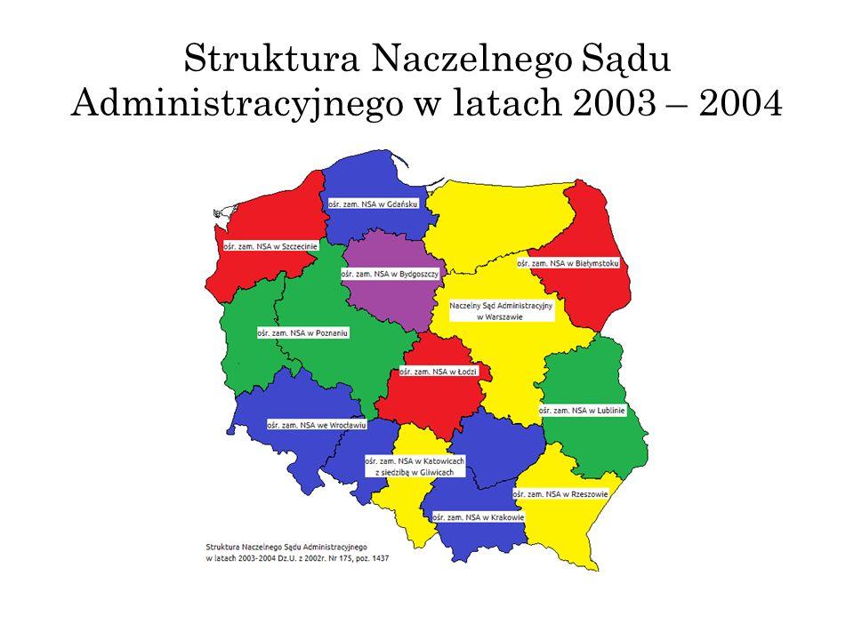Struktura Naczelnego Sądu Administracyjnego w latach 2003 – 2004