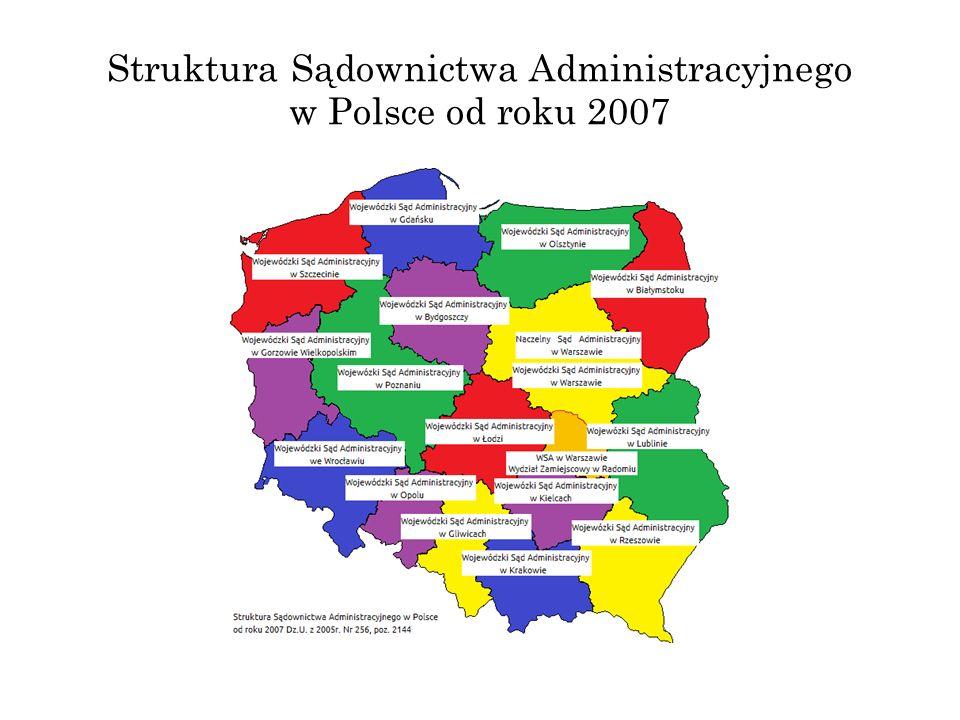 Struktura Sądownictwa Administracyjnego w Polsce od roku 2007
