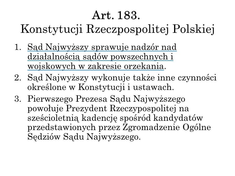 Art. 183. Konstytucji Rzeczpospolitej Polskiej