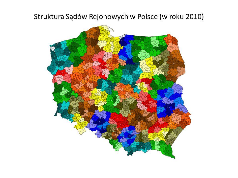 Struktura Sądów Rejonowych w Polsce (w roku 2010)