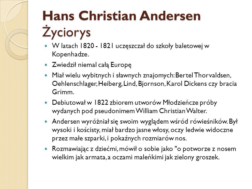 Hans Christian Andersen Życiorys