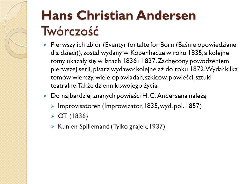 Hans Christian Andersen Twórczość