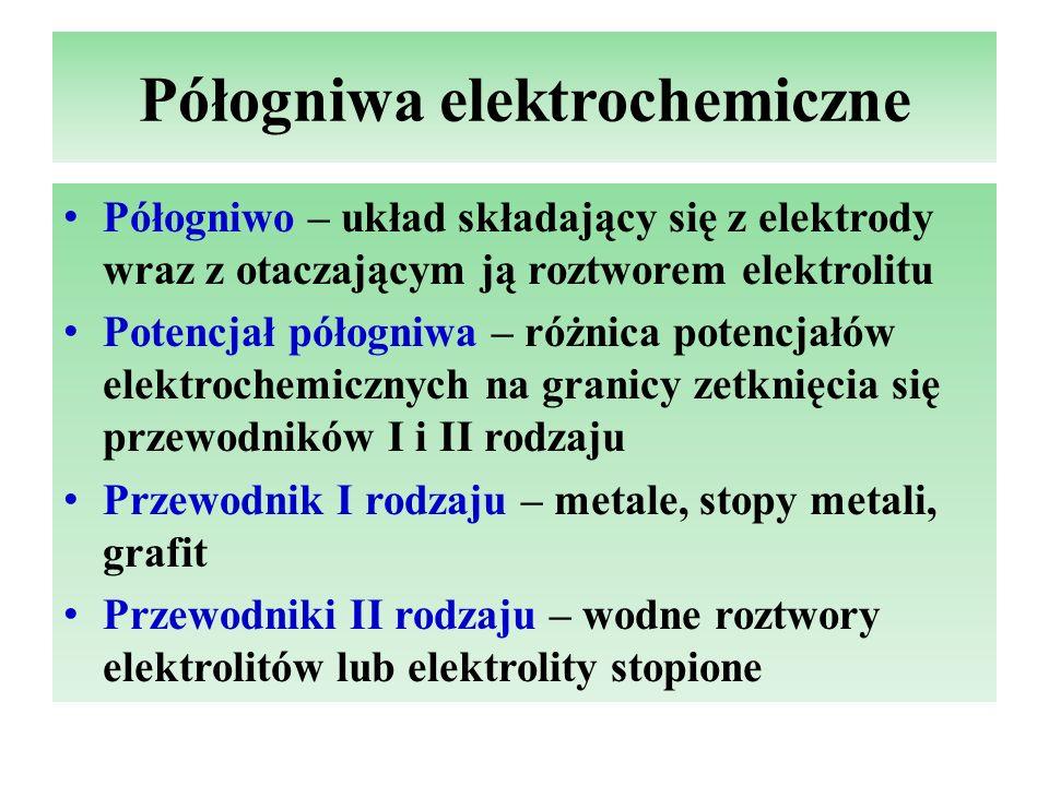 Półogniwa elektrochemiczne
