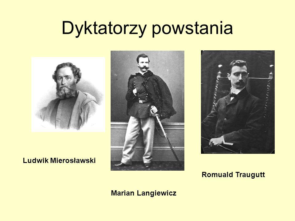 Dyktatorzy powstania Ludwik Mierosławski Romuald Traugutt