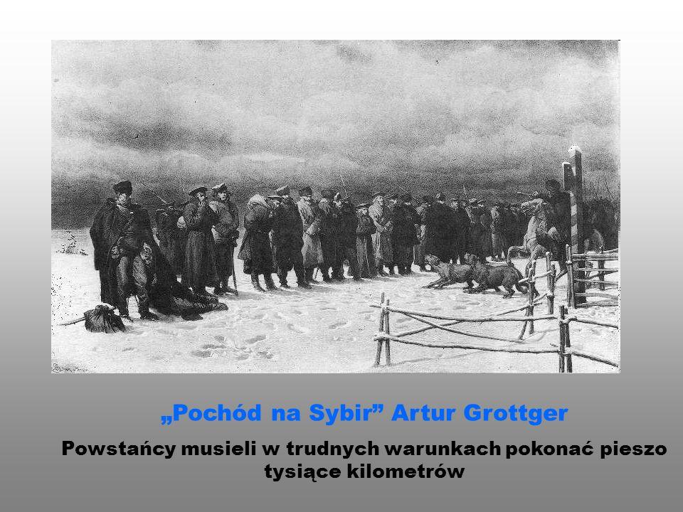 """""""Pochód na Sybir Artur Grottger"""