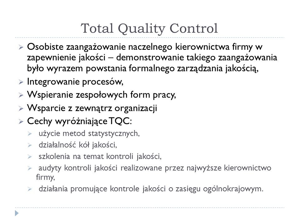 Total Quality Control