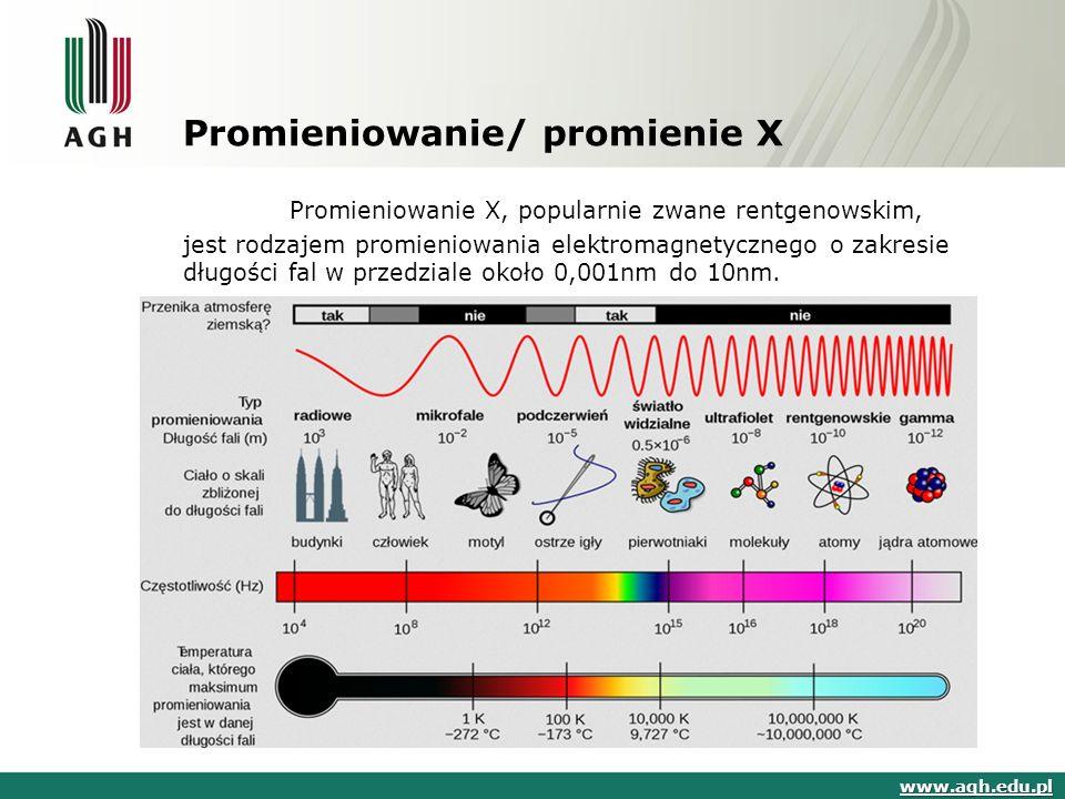 Promieniowanie/ promienie X