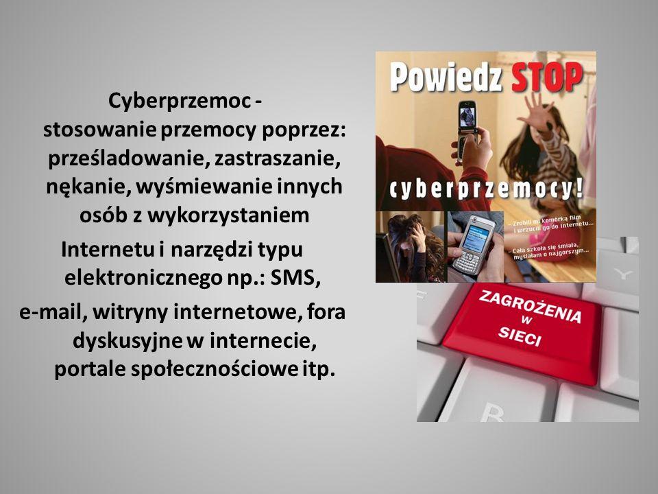 Internetu i narzędzi typu elektronicznego np.: SMS,