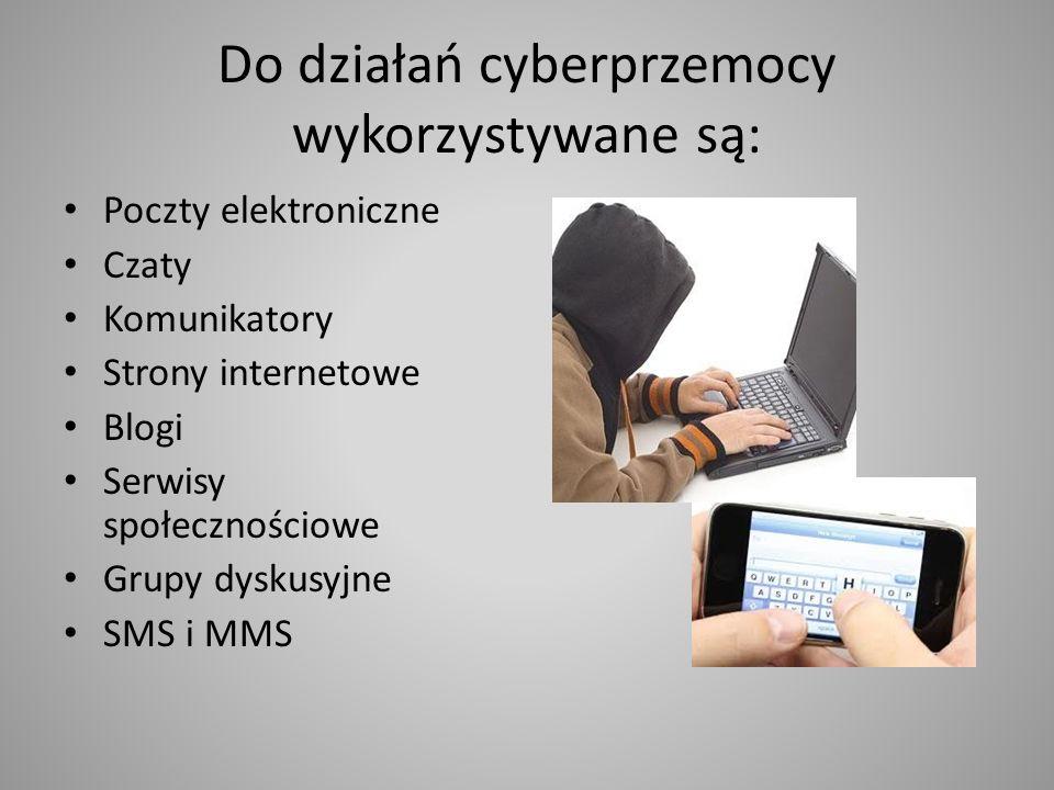 Do działań cyberprzemocy wykorzystywane są: