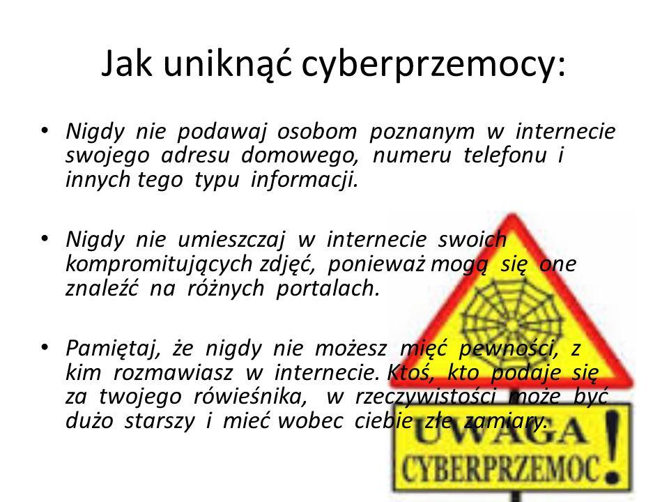Jak uniknąć cyberprzemocy: